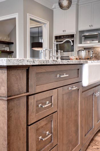 Beautiful Custom Kitchen Island by Creative Cabinetworks, Williamsburg, VA