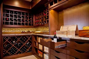 Custom wine cabinets by Creative Cabinetworks of Williamsburg, VA